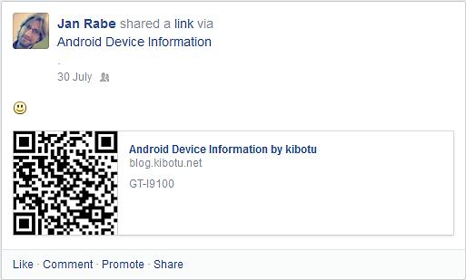 Facebook Sharing Link.